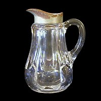 Antique EAPG Clear Thumbnail Syrup Pitcher, 1909-1913 Duncan and Miller Glass