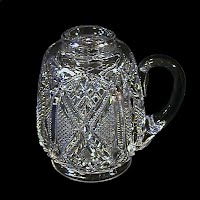 EAPG Clear Glass Mini Syrup Pitcher, 1900's
