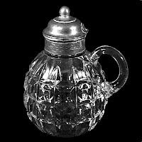Antique EAPG Clear Late Block Syrup Pitcher, 1890 George Duncan & Sons