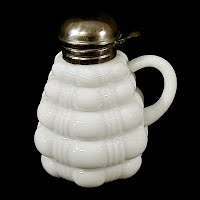 Antique EAPG Cased Glass Bale Syrup Pitcher, 1894 Dithridge & Co