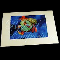 Antique Ephemera Picture, Thorten Utz, Sandman Print with mat