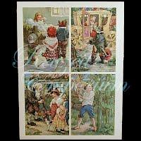 Antique Ephemera Knapp Co, Storybook Pictures