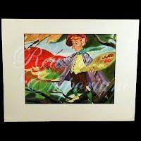Antique Ephemera Picture, Thorton Utz, Jack Frost Print with mat