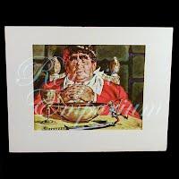 Antique Ephemera Picture, Thorton Utz, Jack and the Beanstalk Print