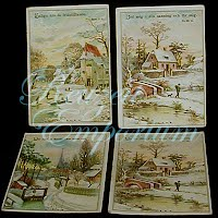 Antique Ephemera Norwegian Religious Cards (4)