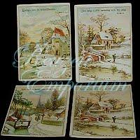 Antique Ephemera Norwegian Religious Cards (4)