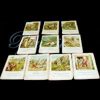 Antique Ephemera 1893 Religious cards, Little Pilgrim Lesson Pictures