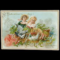 Antique Ephemera St Valentine's Day Album Card