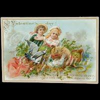 Antique Ephemera St Valentine's Day Album Card