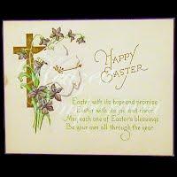 Antique Ephemera 1922 Happy Easter Card