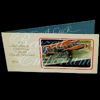 Antique Ephemera Airplane Cut Out Christmas Card