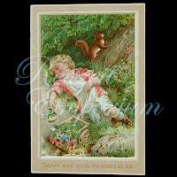 Antique Ephemera Child Sleeping Card