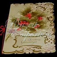 Antique Ephemera Christmas Best Wishes Card