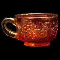 Antique Carnival Marigold Punch Cup, Imperial Grape