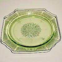 Antique Depression Green Princess Plate