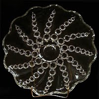 Vintage Depression String of Pearls Glass Plate