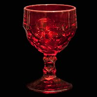 Vintage Georgian Ruby Red Sherbet Glass, Viking Glass
