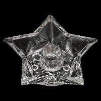 vintage glass star candle holder