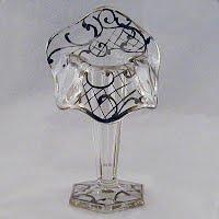 Vintage Silver Overlay Crystal Vase