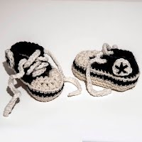 Handmade Crocheted Converse Sneaker Baby Shoes