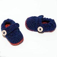 Handmade Crocheted Baby Sailor Boot