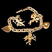 Vintage Gold Valentine Bracelet