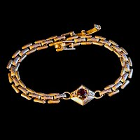 Vintage Gold with Red Stone Bracelet
