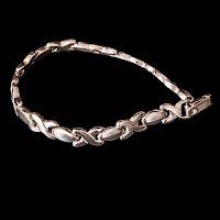 Vintage Sterling Silver Hugs and Kisses Bracelet