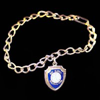 Vintage Silver Charm Bracelet, Billy Clocks
