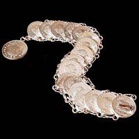 Vintage Mexican Cinco Centavo Bracelet