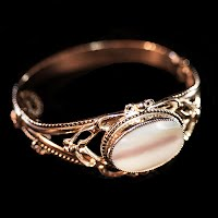 Vintage Whiting and Davis, gold tone bracelet