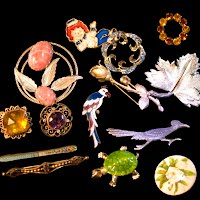 Antique and vintage Brooches and Pins, Antique and Vintage Jewelry