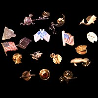 Antique and Vintage Lapel and Tie Pins, Antique and Vintage Jewelry