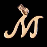 Vintage Initial M Metal Charm