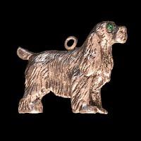vintage dog metal charm