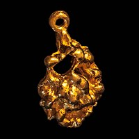 Vintage gold nugget charm