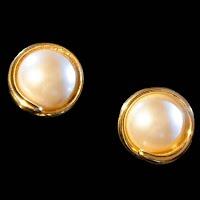Vintage gold Monet Earrings