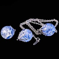 vintage Blue Ball Earring Add On and Necklace