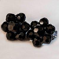 Vintage Jet Black Earrings