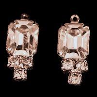 Antique Rhinestone Attachments for Pierced Earrings