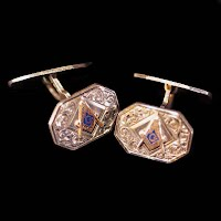 Antique Masonic Silver Cufflinks