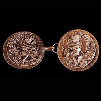 Antique Metal Belt Bucket with Fairies