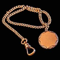 Antique Gold Watch Fob