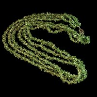 Vintage Necklace, Green Peridot Stones