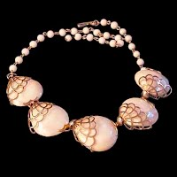 Vintage Real Shells and Metal Necklace
