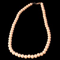Vintage Faux Single Strand Pearl Necklace