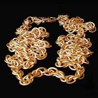 Vintage Necklace, big gold chain