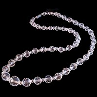 Antique Crystal Beaded Necklace