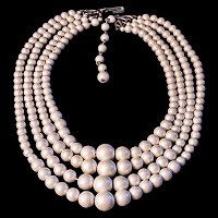 Vintage Faux Pearls Necklace