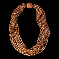 Vintage gold beaded Necklace